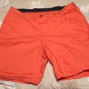 Coral regular length shorts